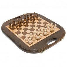 Шахматы + нарды резные «Овальные» 40, Haleyan