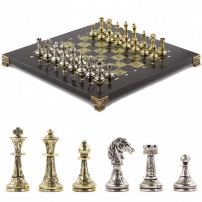Шахматы  Стаунтон 28х28 см из змеевика