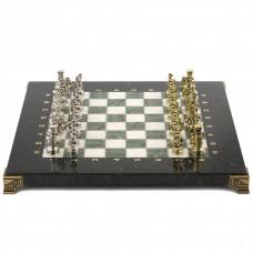 Шахматы Римские воины 28х28 см из офиокальцита и мрамора