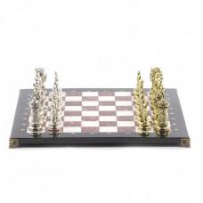 Шахматы Средневековые рыцари доска 44х44 см из камня