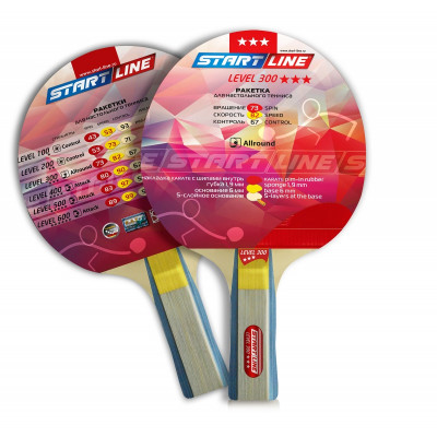 Ракетка для настольного тенниса Level 300 (анатомическая)