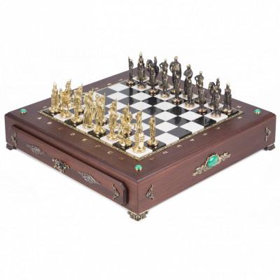 Шахматы подарочные Русь бронза в ларце