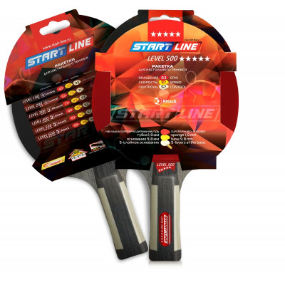 Ракетка для настольного тенниса Level 500 (анатомическая)