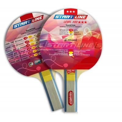 Ракетка для настольного тенниса Level 300 (прямая)