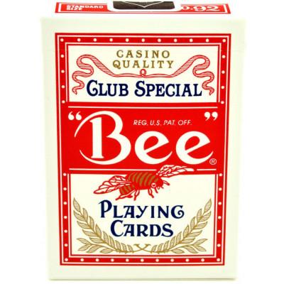 """Игральные карты """"Bee"""" с пчелой Джамбо индекс (красная рубашка) 54 листа"""