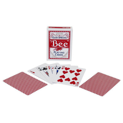 """Игральные карты """"Bee"""" Стандартный индекс (красная рубашка) 54 листа"""