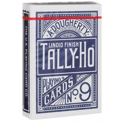 """Игральные карты """"Tally Ho Circle"""" (синяя рубашка) 54 листа"""