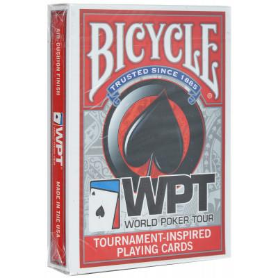 """Игральные карты Bicycle """"WPT"""" (красная рубашка) 54 листа"""
