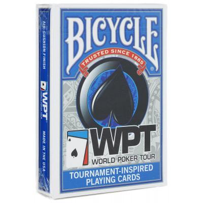 """Игральные карты Bicycle """"WPT"""" (синяя рубашка) 54 листа"""