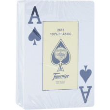 """Игральные карты Fournier """"2818"""" 100% пластик, джамбо индекс (зеленая рубашка) 54 листа"""