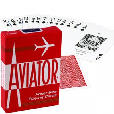 """Игральные карты """"Aviator"""" красная рубашка 54 листов"""