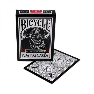 """Коллекционные карты Bicycle """"Black Tiger"""" 54 листа"""