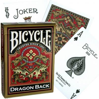 """Игральные карты Bicycle """"Gold Dragon"""" 54 листа"""