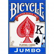 """Игральные карты Bicycle """"Jumbo"""" (синяя рубашка) 54 листа"""
