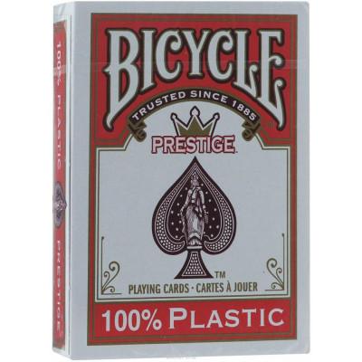 """Игральные карты Bicycle """"Prestige"""" 100% Пластик (красная рубашка) 54 листа"""