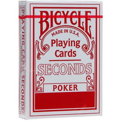 """Игральные карты Bicycle """"Seconds"""" (красная рубашка) 54 листа"""