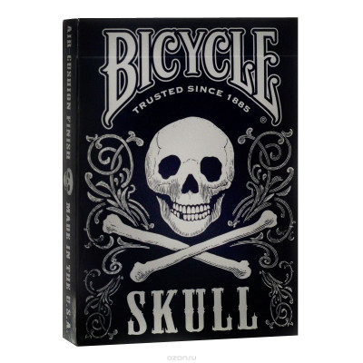 "Коллекционные карты Bicycle ""Skull"" 54 листа"
