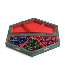 Шахматы цветные на троих малые