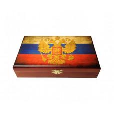 Домино в шкатулке Герб РФ