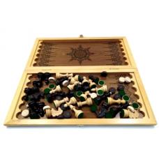 Шахматы нарды шашки Классика дуб шпонированные
