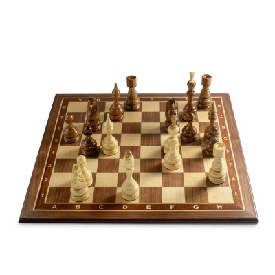 Шахматы Бастион американский орех люкс