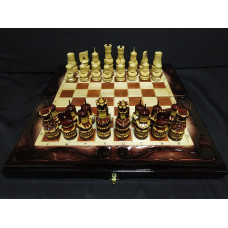 Шахматы нарды шашки Волк резные большие