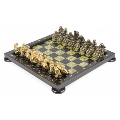 Шахматы Спортивные бронза змеевик