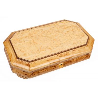 Шкатулка 8 граней (карельская береза)