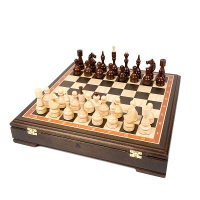 Шахматы Стаунтон Бастион венге