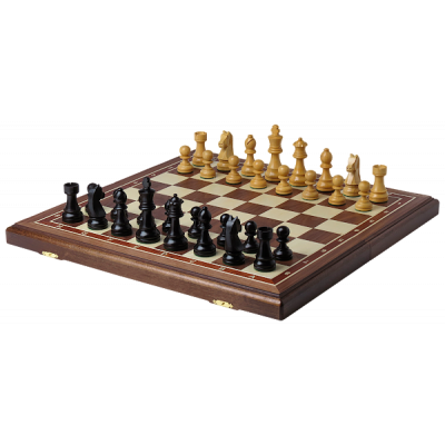 Шахматы Дебют Люкс орех большие