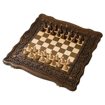 Шахматы + нарды резные Бриз 50, Haleyan