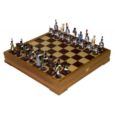 Шахматы Бородинское сражение литье
