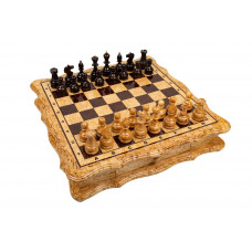 Шахматы Цезарь из карельской березы