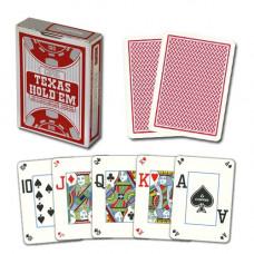 Игральные карты 100% Пластик - Серебряный Покер (красная рубашка) 54 листа