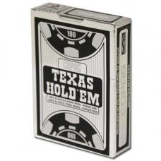 Игральные карты 100% Пластик - Серебряный Покер (черная рубашка) 54 листа