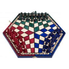 Шахматы на троих цветные большие