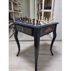 Шахматный стол из мореного дуба
