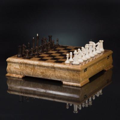 "Шахматы ""Стаунтон Элегант"" из бивня мамонта"