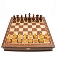 Шахматный ларец Эндшпиль орех большие