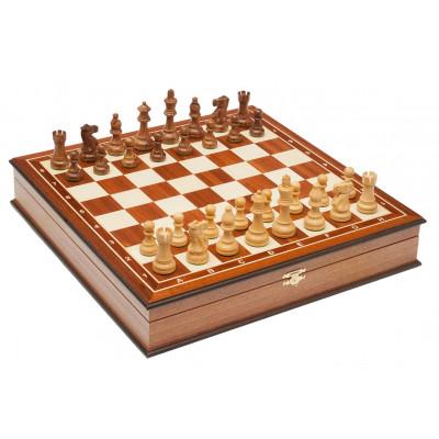 Шахматы ларец Эндшпиль махагон большие