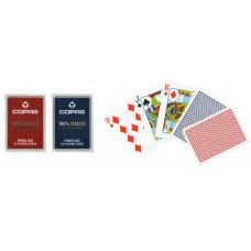 Игральные карты 100% Пластик (синяя рубашка) 54 листа