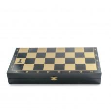 Шахматы Айвенго чёрно-золотые