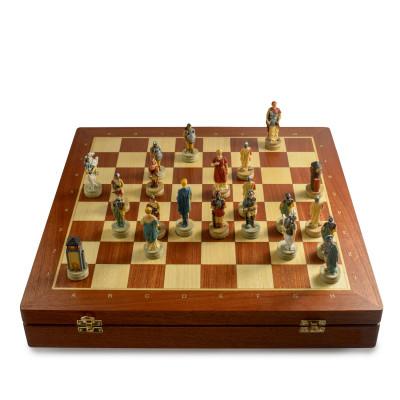 Шахматы Древний Рим и Греция модерн махагон 4.5