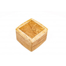 Шкатулка с раздвижной крышкой (карельская береза)