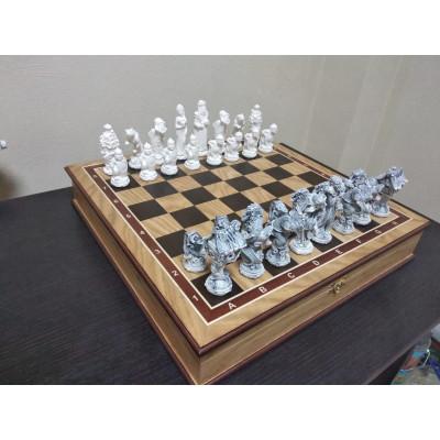 Шахматы Русские сказки в дубовом ларце