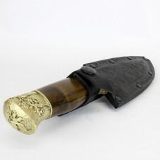 Нож Вязь (орех, латунь) Кизляр