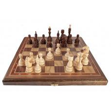 Шахматы Бастион орех средние