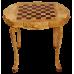 Шахматный стол берёзовый кап