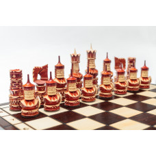 Шахматы резные Круглые щиты