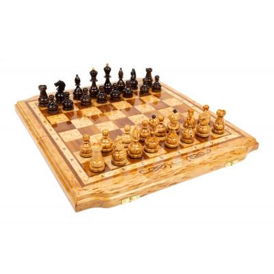 Шахматы из карельской березы Дорожные